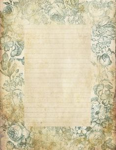Lilac & Lavender: Antiqued lined paper & Stationery