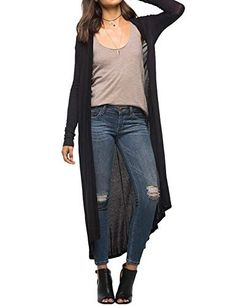 New Trending Outerwear: Yanekop Womens Lightweighted Duster Cardigans Long Sleeve Draped Maxi Cardigan(Black,XL). Yanekop Womens Lightweighted Duster Cardigans Long Sleeve Draped Maxi Cardigan(Black,XL)   Special Offer: $11.99      255 Reviews Yanekop Womens Lightweighted Duster Cardigans Long Sleeve Draped Maxi Cardigan Product Material: Cotton Lycra Blend, Thin Light Weighted Material. Size: Please...