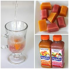 naked-juice-icecubs. Just add to sparkling water for a yummy fruity drink!
