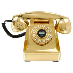Buy Wild and Wolf 302 Desk Phone - Gold from our Retro Telephones range at Red Candy, home of quirky decor. Gold Home Accessories, Office Accessories, Gold Desk, Gold Office, Retro Phone, Vintage Phones, Red Candy, Mellow Yellow, Stuff To Buy