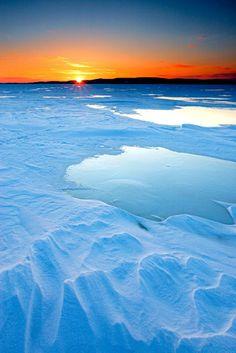 Snow & Ice Sunset