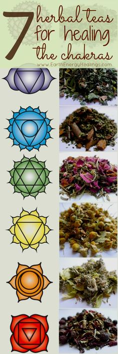 Numerology Spirituality - Herbal Chakra Teas to Heal the 7 Chakras. Intuitively handcrafted and organic herbal healing teas for the chakra system. Get your personalized numerology reading Healing Herbs, Holistic Healing, Natural Healing, Crystal Healing, Healing Stones, Ayurveda, Les Chakras, Yoga Chakras, Mudras