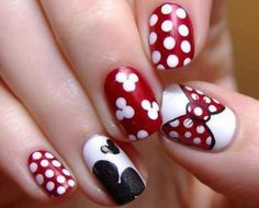 1000  Ideas About Mickey Mouse Nails On Pinterest | Disney Nails for New Minnie Mouse Nail Designs 2017