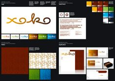 Xoko identity. I'm diggin' the presentation and the all the dots.