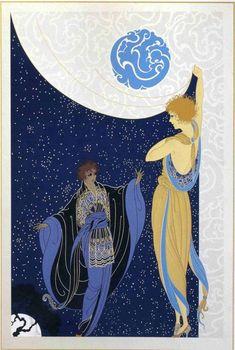 2020 Wall Calendar pages) Vintage Reprint Posters Erte Art Deco French Art Deco Illustration, Art Nouveau, Art Deco Posters, Vintage Posters, Moda Art Deco, Erte Art, Romain De Tirtoff, Art Deco Artists, Art Deco Stil