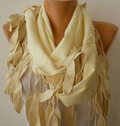 Women Pashmina  Scarf   Cotton Scarf  Headband  Cowl by fatwoman, $19.00