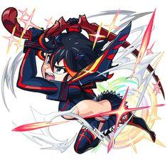 Manga Art, Anime Art, Kill A Kill, Monster Strike, Satsuki Kiryuin, Yoko Littner, Red Dragon, First Contact, Drawing Poses