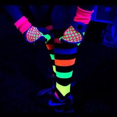 """Glow in the dark workout gloves....aka the """"Back to the Future"""" G-Loves"""