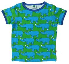 Smafolk Rhino tee - green Retro Baby Clothes - Baby Boy clothes - Danish Baby Clothes - Smafolk - Toddler clothing - Baby Clothing - Baby clothes Online