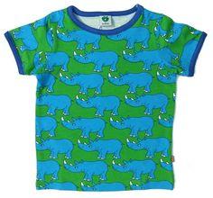Smafolk Rhino tee - green Retro Baby Clothes - Baby Boy clothes - Danish Baby Clothes - Smafolk - Toddler clothing - Baby Clothing - Baby clothes Online