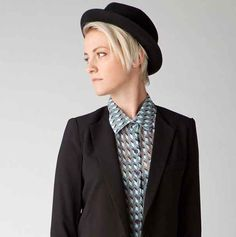 Shop for blazers with skinny lapels.