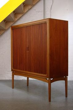 The Modern Warehouse - Furniture - Danish Teak and Oak Cabinet. for the bar