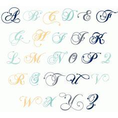 star fancy monogram alphabet