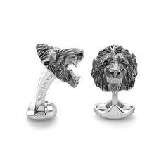 Oxidised Lion Cufflinks