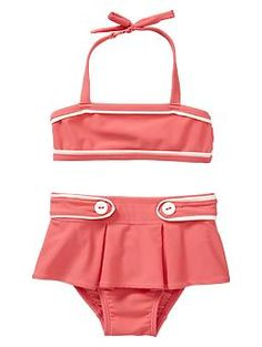 Piped two-piece | Gap...o yes...Kensi needs this one...love the retro bikinis most for my Lil gals :)
