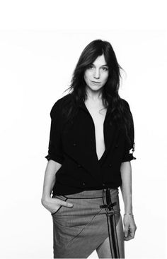 Charlotte Gainsbourg wears Anthony Vaccarello SS15 for Document