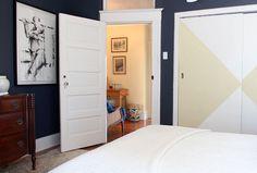 Great idea for sliding closet doors.
