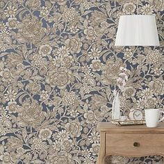 A wide range of Wallpaper available to buy today at Dunelm, the UK's largest homewares and soft furnishings store. Order now for a fast home delivery or reserve in store. Navy Wallpaper, Unique Wallpaper, Wallpaper Decor, Blue Wallpapers, Bedroom Wallpaper, Victorian Wallpaper, Oriental Design, Blue China, Designer Wallpaper