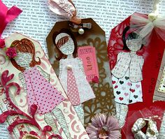 Paper Doll Tags by Julie Nutting