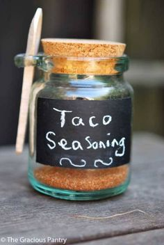 Clean Eating Taco Seasoning - used in the slow cooker. Super yummy.