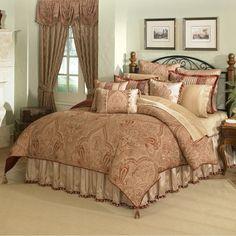 Master Bedroom Comforter Sets   ... Castille 4-Piece Bedding Comforter Set   Red Master bedroom r