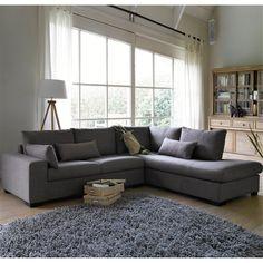 Canapé d'angle, fixe ou convertible, chiné, Odessa La Redoute Interieurs
