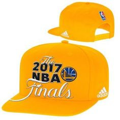 Golden State Warriors adidas 2017 NBA Finals Snapback Cap - Gold