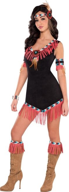 Adult Rising Sun Native American Princess Costume - Party City
