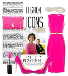 """Fashion Icon Jackie O"" by sparklemeetsclassic on Polyvore featuring Michael Kors, MAC Cosmetics, Jimmy Choo and Dolce&Gabbana"