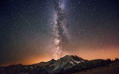 звезды, небо, млечный путь, ночь, горы