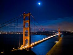 Blue Moon over the Golden Gate