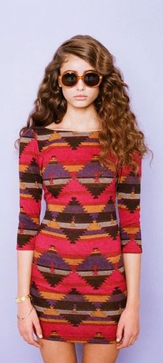love how bold the tribal print is