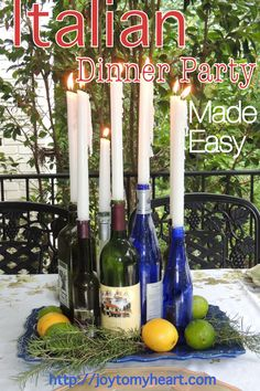 As summer winds down, your days for an outdoor Italian dinner party are limited. Check out this hosting #howto guide and get to planning!