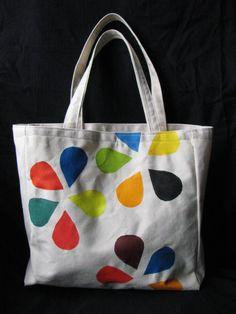 canvas bag, acrylic paint