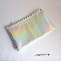 Holographic vegan pouch Handmade to order by goldenponies on Etsy