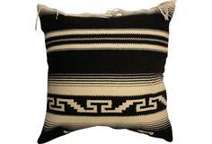 vintage serape pillow - matches my whole apartment interior.