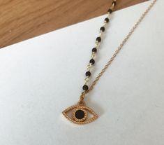 Les perles de Brunette - Collier Evelyne (pré commande, delai de 4 jours supplémentaires)