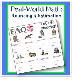 Whole Numbers Estimation: Real World Math Freebie | Life, Love, Literacy