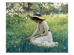 This is just amazing: Spring Flowers by Arthur Hacker. Why had I never heard of him before?