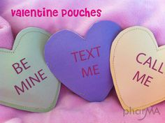 What a cute Valentine for school age kids!  Put a little treat inside, stitch up quick and they are done!