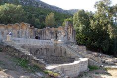 Le site archéologique de Zaghouan, vue du temple des eaux. L'époque romaine, IIe ap J.C.