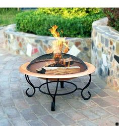 Firepit grills-Designing a landscape around an outdoor fire pit safety concern. No flammable, such as flowers or long-leaf plants, should go near the Garden Fire Pit, Fire Pit Backyard, Fire Pit Safety, Cast Iron Fire Pit, Outdoor Fire, Outdoor Decor, Outside Fireplace, Container Herb Garden, Fire Pit Ring