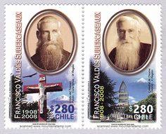Estampillas conmemorativas 100 años Mons Francisco Valdés Subercaseaux Obispo de Osorno
