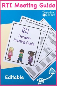 RTI Meeting Agenda and RTI Meeting Forms guide you as you use data forms for decision making during the RTI process. Response to Intervention forms for meetings help teachers make informed decisions about students and what tier should be next after progress monitoring has been completed. Great tool for RTI Committees! kindergarten, first grade, second grade, third grade, upper grades #RTI #readinginterventions #guidedreading #kindergarten, #first grade #conversationsinliteracy