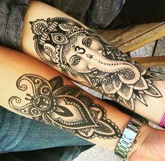 ganesha mandala tattoo