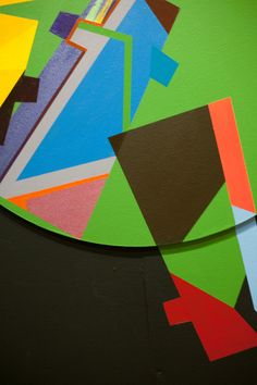 'Round and Round We Go!' Site specific, acrylic on board and wall