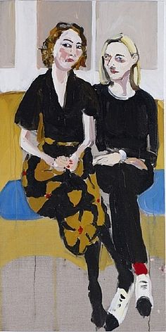 """Annabell and Henrietta (1)"" 2010, oil on canvas, 39.4 x 19.7cm"
