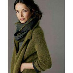 Gorgeous Moss Green Wool Eileen Fisher Jacket