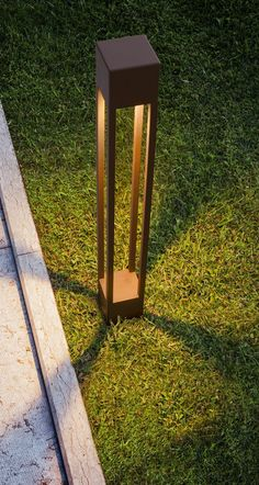 LED stainless steel bollard light TORCH by Olev
