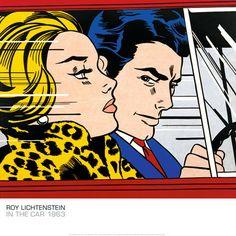 In The Car by Roy Lichtenstein Art Print. Purchase Online at Pop Motif.